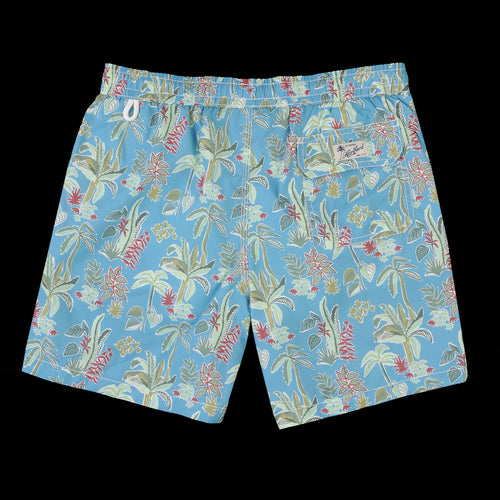 Tropical Swimshort in Aqua Blue