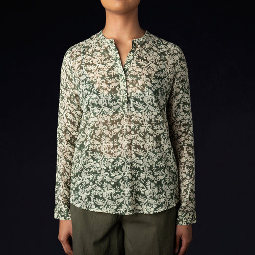 Indian Block Print Havre Top in Green