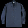 Deveaux - Stiffened Cotton Trapeze Overshirt in Navy