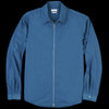 Deveaux - Papery Nylon Zip Overshirt in Marine
