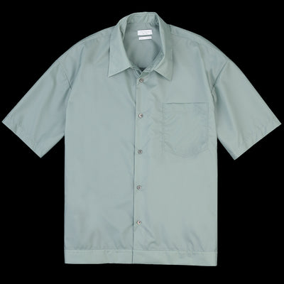 Deveaux - Translucent Taffeta Elasticated Resort Shirt in Aqua