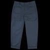 Deveaux - Stiffened Cotton Cuffed Architect Pant in Navy