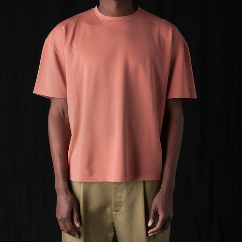 Ponti Oversized Tee in Peach