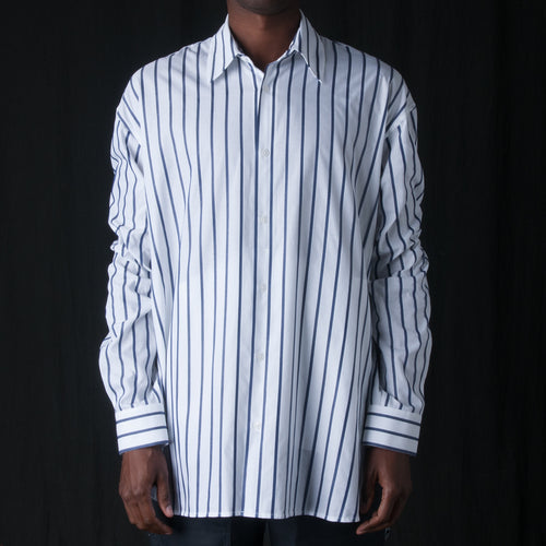 Raised Stripe Trapeze Shirt in Navy