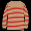 Andersen Andersen - Marine Stripe Symmetrical Sweater in Camel & Red