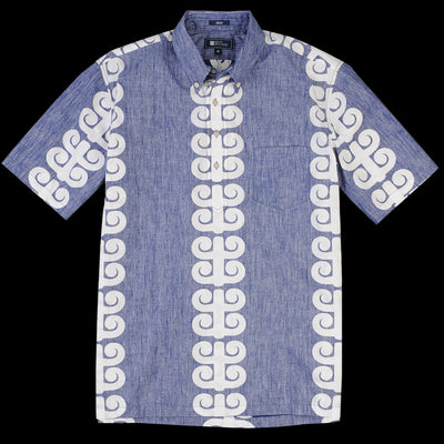 Reyn Spooner - Stack a Tapa Classic Pullover Shirt in Twilight Blue
