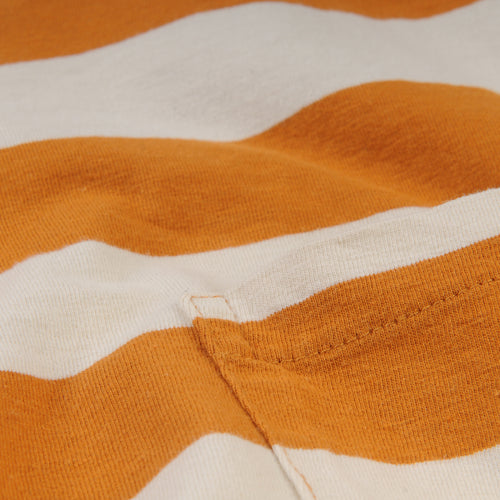 1950's Sportswear Tee in Thin Stripe Rust