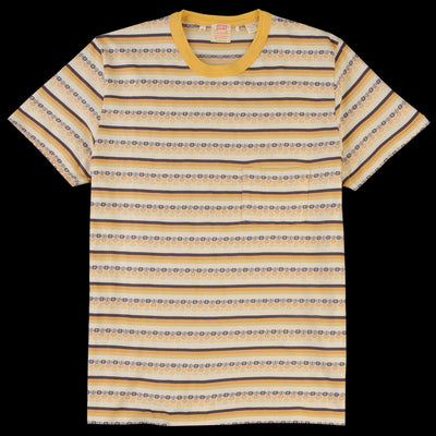 Levi's Vintage Clothing - 1960's Casual Stripe Tee in Custard Stripe Jacquard