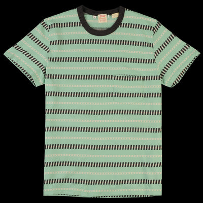 Levi's Vintage Clothing - 1960's Casual Stripe Tee in Mint Stripe Jacquard