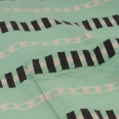1960's Casual Stripe Tee in Mint Stripe Jacquard
