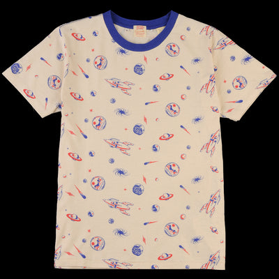 Levi's Vintage Clothing - Graphic Tee in Spaced All Over Crème Brulee