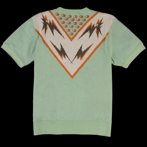 Knit Surf Tee in Space Cadet Intarsia