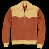 Levi's Vintage Clothing - 1950's Zip Fleece in Two Tone Brown