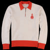 Levi's Vintage Clothing - 1950's Half Zip Fleece in Two Tone Off White