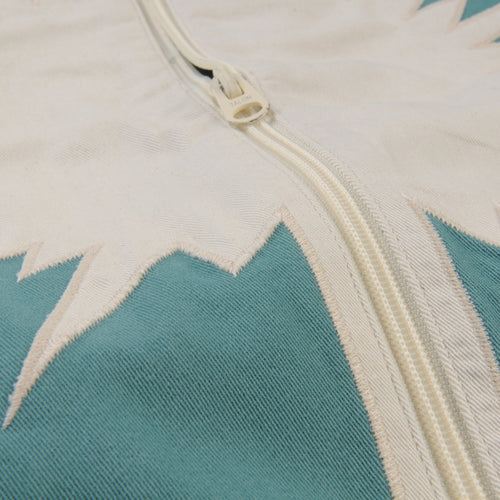 Starburst Bomber Jacket in Dark Mint