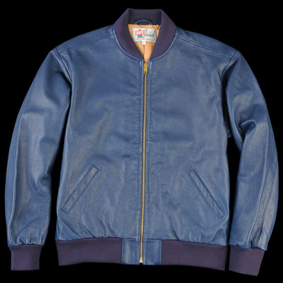 Levi's Vintage Clothing - Leather Bomber in Dark Blue
