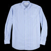 Schnayderman's - Oversized Shirt Cotton Silk Stripe in Blue & White