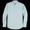 Schnayderman's - Shirt Pencil Stripe in Green & Off White