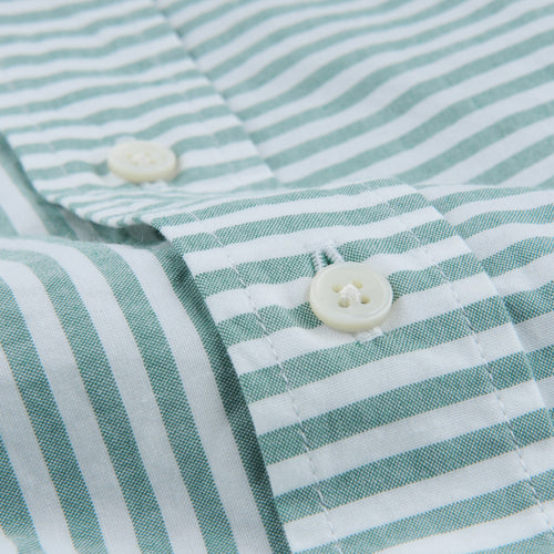 Shirt Pencil Stripe in Green & Off White