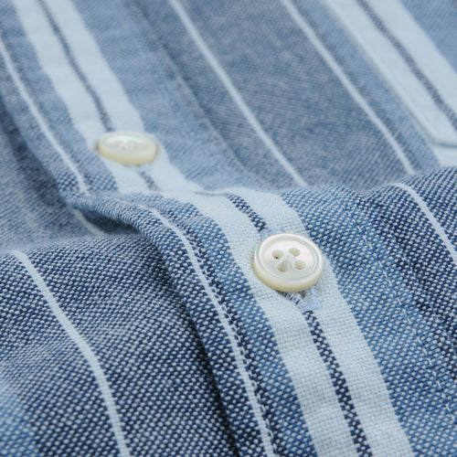 Shirt Oxford Indigo Stripe in Blue & White