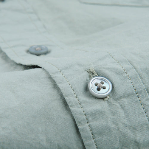 Shirt Poplin Garment Dyed in Slate Green