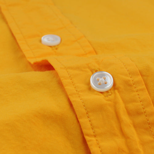 Shirt Poplin Garment Dyed Unbutton in Mandarin