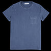 Schnayderman's - T-Shirt Jersey Garment Dyed in Mood Indigo