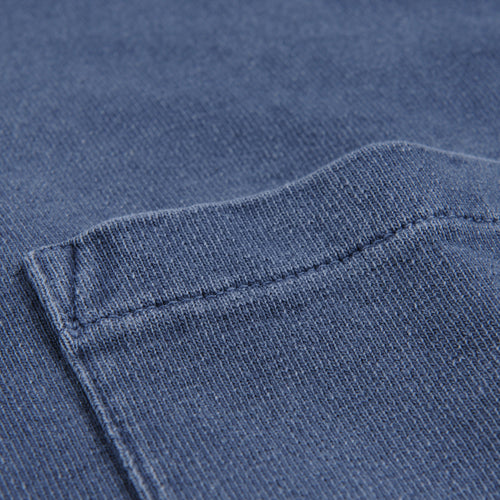 T-Shirt Jersey Garment Dyed in Mood Indigo