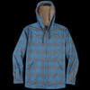 Pendleton - Wool Hoodie in Blue Grey Shadow Plaid