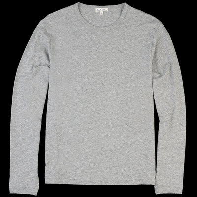 Alex Mill - Standard Longsleeve Slub Tee in Heather Grey
