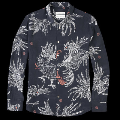 A Kind of Guise - Flores Shirt in Black Rooster