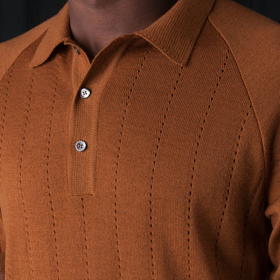 A Kind of Guise - Baccara Knit Polo in Brown