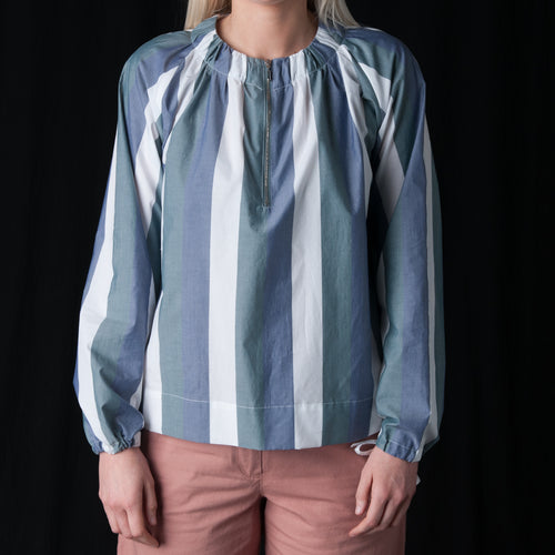 Lawu Blouse in Bold Stripes