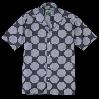 Gitman Vintage - Camp Shirt in Navy Dot