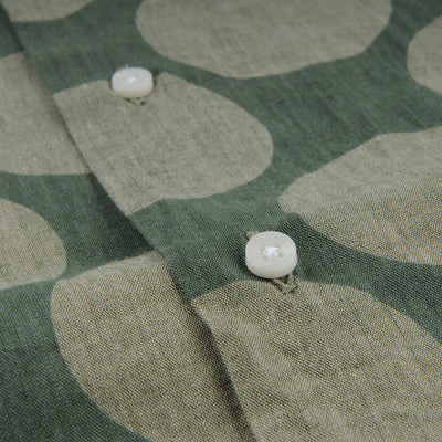 Gitman Vintage - Camp Shirt in Olive Dot