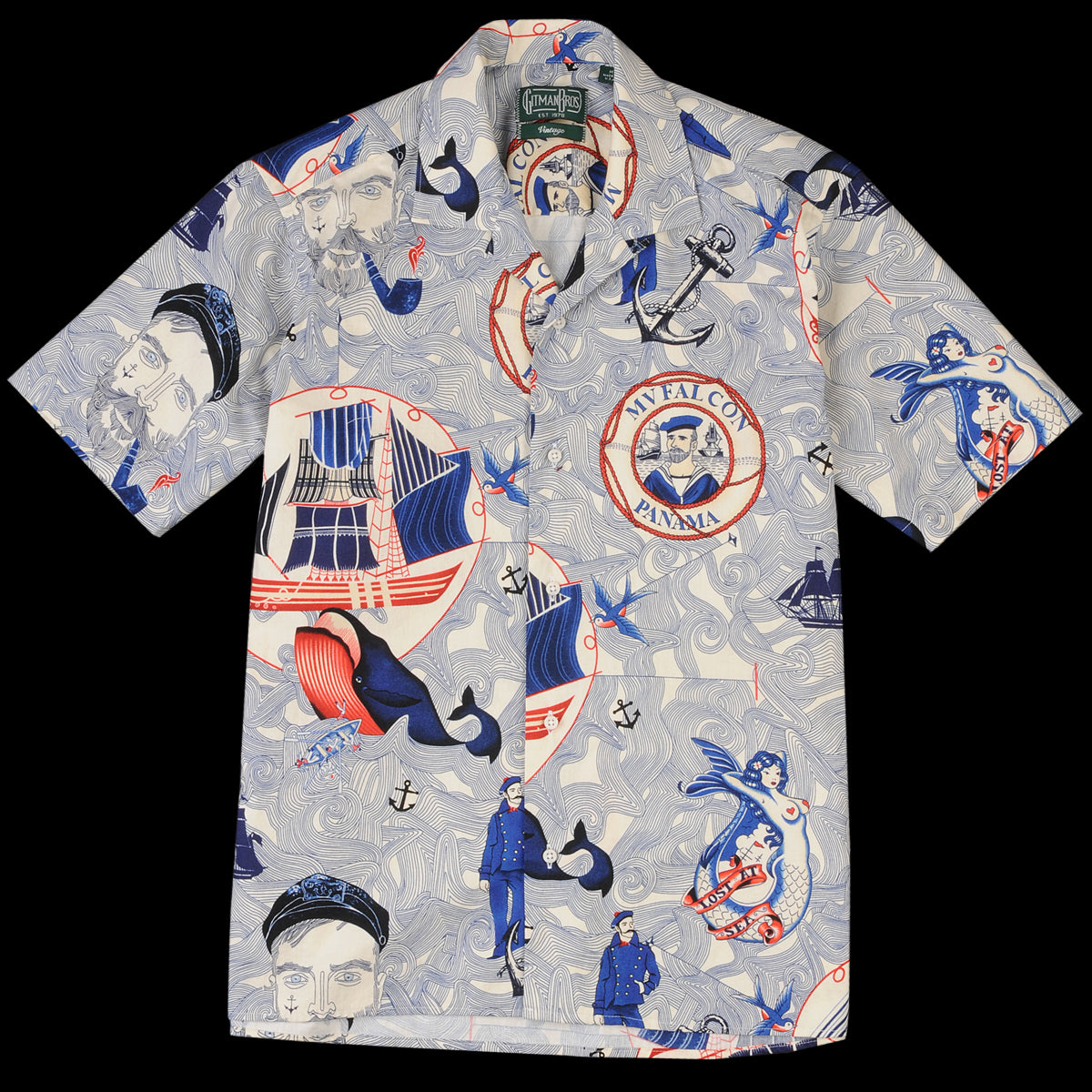399fb1bc Gitman Vintage - Camp Shirt in Lost at Sea - UNIONMADE
