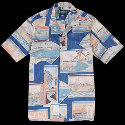 Gitman Vintage - Camp Shirt in Blue Postcard