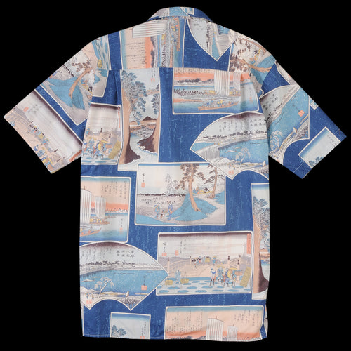 Camp Shirt in Blue Postcard