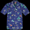 Gitman Vintage - Camp Shirt in Surf & Turf Navy