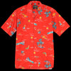 Gitman Vintage - Camp Shirt in Surf & Turf Red