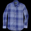 Gitman Vintage - Key Collar Shirt in Navy Check