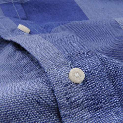 Key Collar Shirt in Navy Check