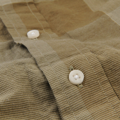 Key Collar Shirt in Olive Check