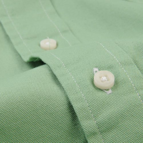 Button Down Shirt in Green Spring Oxford