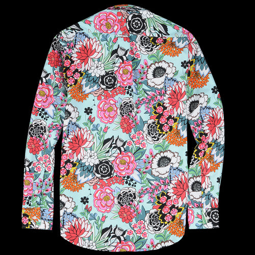 Key Collar Shirt in Aqua Garden Floral