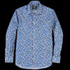 Gitman Vintage - Key Collar Shirt in Blue Small Floral
