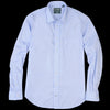 Gitman Vintage - Key Collar Shirt in Blue Zephyr Oxford