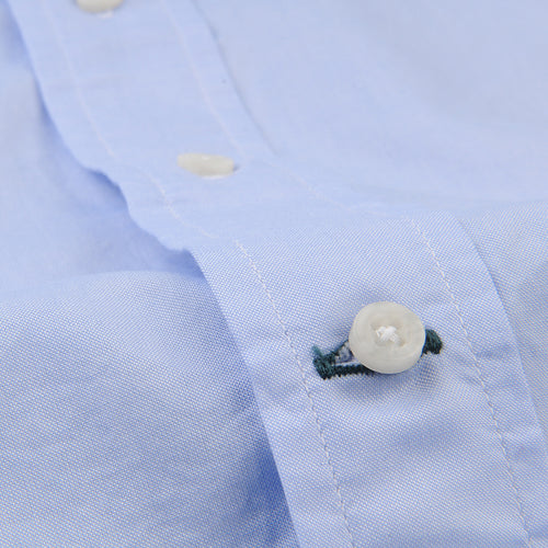 Key Collar Shirt in Blue Zephyr Oxford