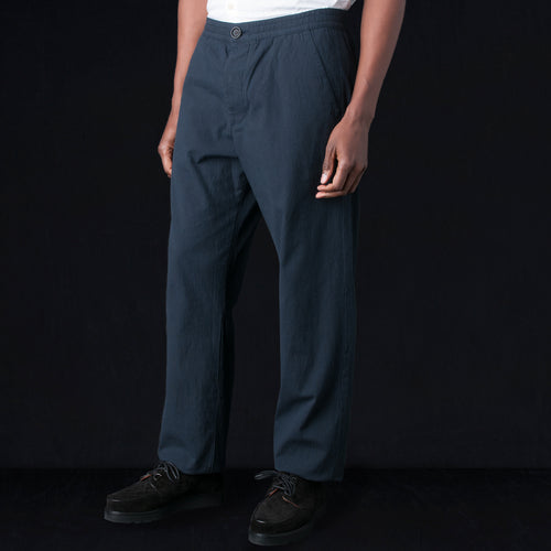 Drawstring Trouser in Ruben Midnight