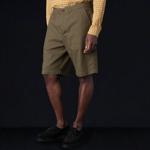 Drawstring Short in Kildale Olive Green